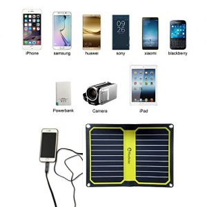 FlexSolar 11W/5V Foldable Solar Powered Charger Yellow