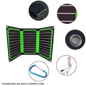 FlexSolar 16W Portable Solar Chargers with Dual Outputs Green