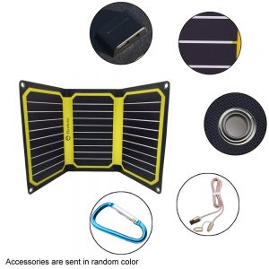 FlexSolar 16W Portable Solar Chargers with Dual Outputs Yellow