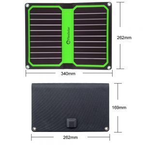 FlexSolar 11W/5V Foldable Solar Charger Green