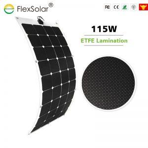 Flexsolar Semi-flexible Sunpower 115W Solar Panel for Car, Boat